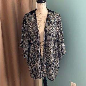 Maurices Kimono with lace detail